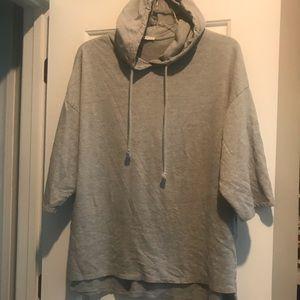 Zara gray hoodie large